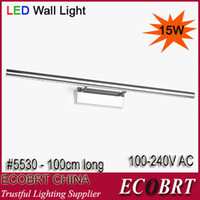 Wholesale 2014 Limited W cm long Sconce Banheiro Bathroom Mirror Lighting Lamps Smd5050 Led Stainless Steel v Indoor Wall lightl