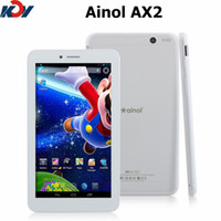 Wholesale Ainol AX2 Numy G inch IPS Phone Call Tablet PC Bluetooth GPS MTK8382 Quad Core Dual SIM Card Android MB RAM GB ROM