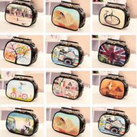 Wholesale New Fashion Vintage Women Girl Printing Shoulder Bag PU Leather Tote Colorful Print Messenger Bag leather Handbags H11107