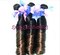 Cheap Brazilian Hair funmi  hair weft Best Romance curl Brazilian Human remy hair human remy hair weft