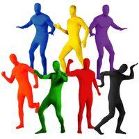 Trajes de cuerpo de spandex al por mayor España-Venta al por mayor- traje de traje de cuerpo entero adulto 2ª piel Lycra Spandex Zentai Halloween traje de lujo