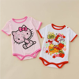 kitty cat lady bodysuits Summer short sleeve Triangle girl's bodysuit 100% cotton rompers babyclothes L44