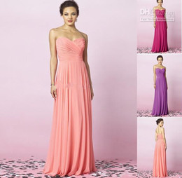 2014 bridesmaid dresses cheap A Line Sweetheart Party Dresses Floor Length Pleated Chiffon Coral Bridesmaid Dresses sweetheart backless
