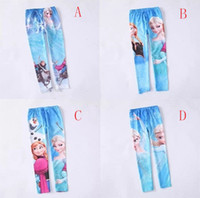 Leggings & Tights Girl Spring / Autumn 4 styles! 2014 New frozen girls leggings Elsa Anna Olaf Snow printed baby girl tight pants cute children cartoon legging trousers