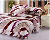 Polyester / Cotton home use Woven 1.8cm thick cotton twill bedding four sets quilt bedding, household linen