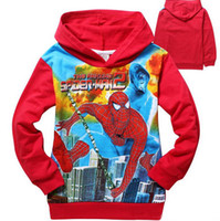 Boy Spring / Autumn Hooded 2 Colors! 2014 Amazing Spider-man Baby Boys 2-8Years Hoodie Long Sleeve Terry Hooded Cartoon Hoodies Kids Sweatshirts Jumper Top