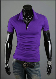 Wholesale new summer hot fashion brand men s large size multi colored short sleeved shirt POLO