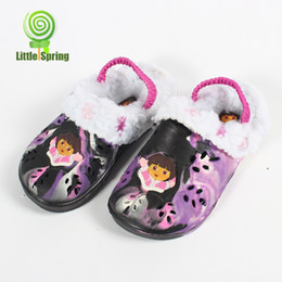 Wholesale Removable insole Girls sandals shoes Children Sandal Girl shoes Baby winter slipper B LZ X0040