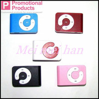 Wholesale DHL Fedex Free Brand New Clip MP3 Player Support MB GB Micro SD TF Card Fast Shipping