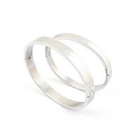 2014 hot sale silver couple bracelet, titanium steel bracele...
