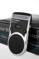 Wholesale LJP625 Solar Powered Bluetooth Car Kit Call Handsfree speakerphone Car Kit LCD Display