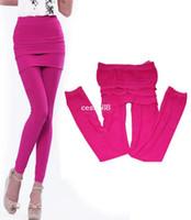 Leggings Skinny,Slim Women New Women Nylon Full Footless Stretch Seamless Long Pants Skirt Legging free shipping 8069