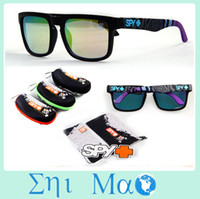Wholesale 2014 New KEN BLOCK sunglasses HELM Sports Spy Sunglasses With Original Packs Outdoor Sun glasses COLORFUL LENS men Specs hard case