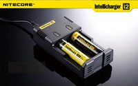 Wholesale Nitecore battery charger nitecore intellicharge i2 battery E Cigarette in Rechargerable Intellicharger US AU EU UK plug