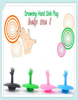 Wholesale by DHL FedEx Creative Washroom Products Lovely Hand Shape Sink Plug Water Plug Rubber Sink Stopper