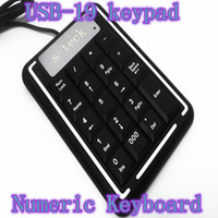 Standard Wired Desktop Cheap Protable full size USB-19 keypad slim Numeric Keyboard for laptop pc Desktop -thin notebook computers caps design