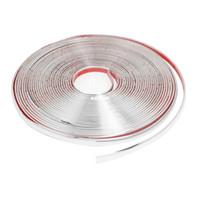 Cheap Car Window Silver Tone Soft PVC Adhesive Back Moulding Trim Strip Line 15M x 12mm