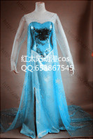 Mascot Costumes Animal Angel mascot Tailored Frozen Elsa Costumes for women sexy blue dress blue princess dress with high quality free shipping
