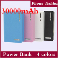 Wholesale 30000mAh Dual USB Power Bank Universal Mobile Power For ipod iphone s Samsung s5 note External Emergency Battery Portable Charger F