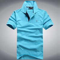 Wholesale New fashion tommy men brand polo tees designer tops cotton golf casual summer design maleT shirts free shiping