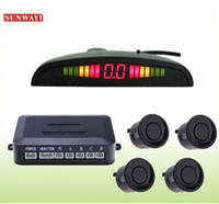Wholesale 4 Parking Sensors LED Display Car Backup Rear Radar System Kit Sound Alert Alarm