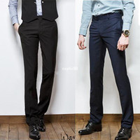 Wholesale New Men s Slim Fit Casual Formal Straight Dress Pants Smooth Trousers color
