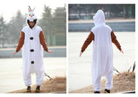 Wholesale Frozen Olaf Adult Men Women Halloween Animal Cartoon Cosplay Costume Pajamas Outfit Nightclothes Onesies Clothing Size