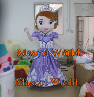 Mascot Costumes Animal Angel Best Quality Sofia the First Mascot Costume Sofia Costume with helmet and mini fan Carnival Costumes Fancy Dress FreeShip SW344