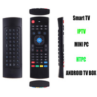 Wholesale 2 G Wireless Mini Remote Control Keyboard Air Mouse Voice for XBMC Android Smart TV Box HTPC