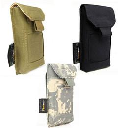 Wholesale FREE SOLDIER TACTICAL CORDURA SERVICE PACK MINI POCKET MOBILE PHONE BAG POUCH BLACK MUD