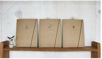 Envío gratis ! Corea del escritorio de sobres de piel de vaca ambiental portátiles Rayas en blanco de Bloc de notas A5 cuaderno / libreta de papel