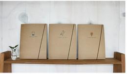 Papelería sobre de papel en Línea-Envío gratis ! Corea del escritorio de sobres de piel de vaca ambiental portátiles Rayas en blanco de Bloc de notas A5 cuaderno / libreta de papel