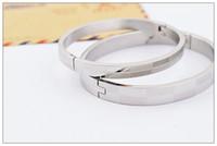 2014 hot sale silver couple bracelet, classical titanium ste...