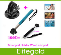 Wholesale Promotion Set Gopro Tripod Accessories Aluminium Handheld Monopod Go Pro Tripods Mount Adapter For Gopro Hero Camera HD Quality