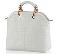 Wholesale Fashion Crocodile Designer Handbag Tote Bag Name Brand Satchel PU Leather Shoulder Messenger Bag White Big Vintage Purse Bags