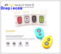 Wholesale Wireless Bluetooth Remote Camera Control Self timer Shutter for iPhone S C S for Galaxy S5 S4 Note Smartphones and Tablet