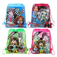 Wholesale child children s girl s backpack monster high Drawstring bag for child school bag waterproof camping casual bags for kids