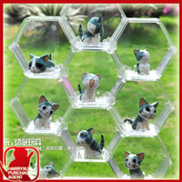 Wholesale Acrylic combined type transparent color classic toy action figure model dolls hexagon display show shelf box with belt buckle