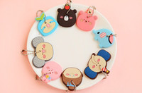 Fashion key caps - Kawaii Cartoon Animals Key Caps Covers Keys Silicon Keychain Case Shell Lovely Keychain
