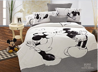 Wholesale Mickey Mouse kids print bedding set pc bedclothes Cotton Duvet Comforter Quilt Cover bed linen sets double king queen size