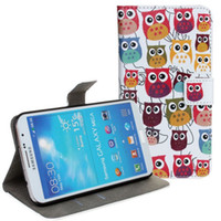 Cheap For Samsung Cartoon Night Owl Cases Best Leather White Card slots Leather Case