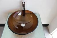 bathroom vessel sink cabinets - Victory bathroom basin glass sink wash basin vessel sink wash sink bathroom cabinet sink N