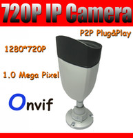 Wholesale 720P Outdoor IP Camera HD Network Camera MP Day amp Night Vision P2P Plug and Play Onvif Security Camera with IR CUT