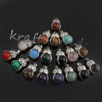 Wholesale Charm Silver plated mixture owl Shape Beads Pendant Jewelry