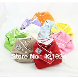 Wholesale Fast Delivery cloth nappy Reusable Washable Baby Cloth Nappies Nappy Diapers diaper cover Microfiber inserts