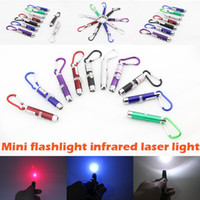 Wholesale 3 in mw Laser Pen Pointer Mini LED FlashLight Torch Flashlight Emergency Keychain Free DHL