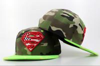 dc caps - camo green Dc Comics Superman Snapback Hat Adults Cartoon Snapbacks Man Hat Woman Cap Adjustable Street Fashion Hats Caps QH