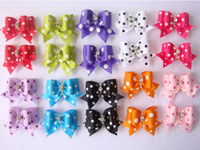 Wholesale 50PCS Pet Products Handmade Dog Grooming Accessories Pet Hair Bows Luxury Doggie Boutique Rhinestone More Colors Big Size