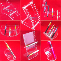 display cases - Acrylic ecig display case electronic cigarette stand shelf holder display rack for e cigarette ego battery vaporizer drip tip various styles