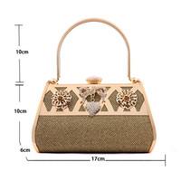 Wholesale Golden Fashion Cheap Evening Bags Silk Fabrics Diamond Magnetic Snap clutch bag